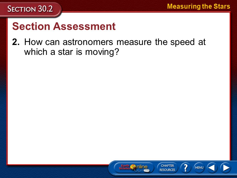 Measuring the Stars Section Assessment.