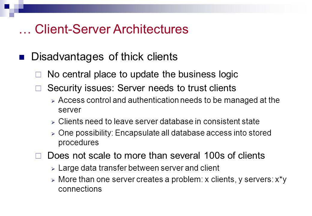 … Client-Server Architectures