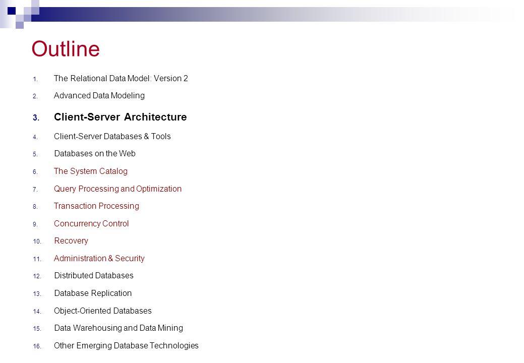 Outline Client-Server Architecture