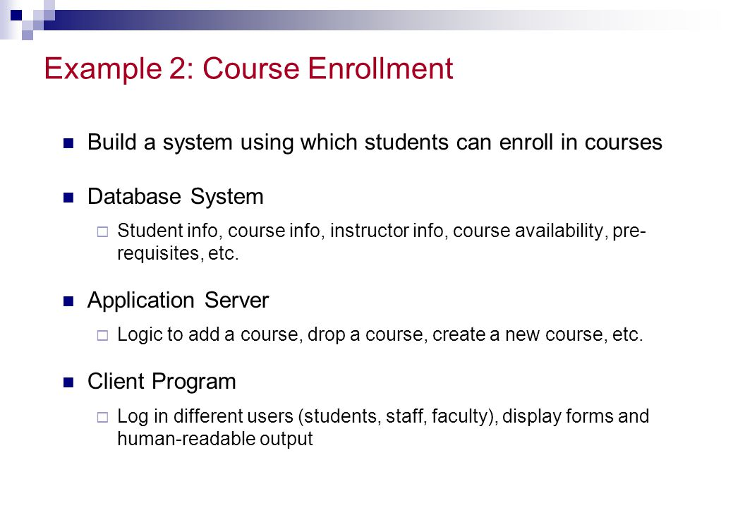 Example 2: Course Enrollment