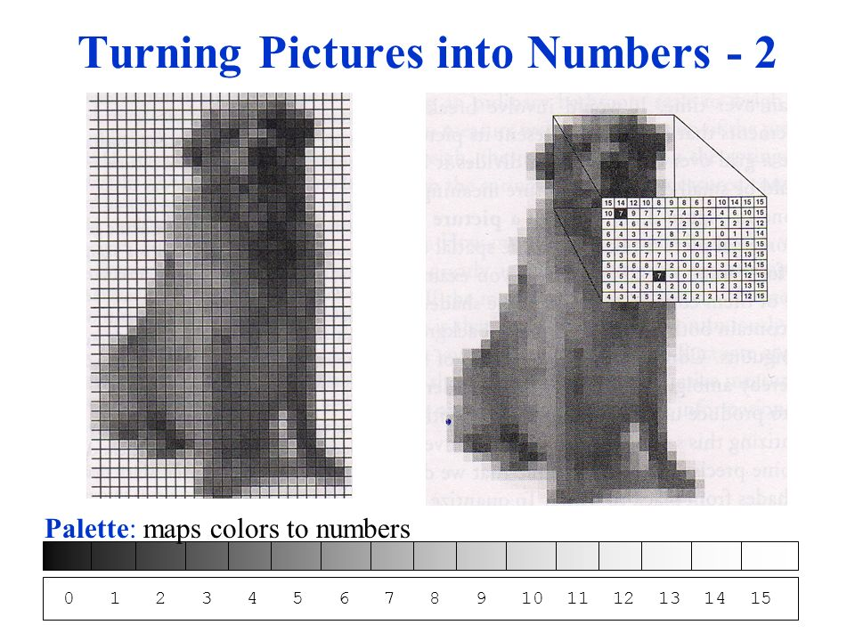 Turning Pictures into Numbers - 2