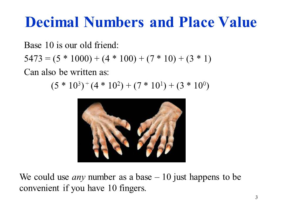 Decimal Numbers and Place Value