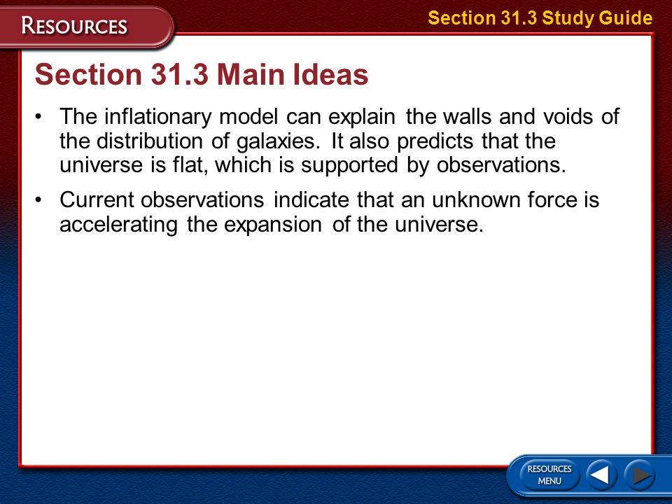Section 31.3 Study Guide Section 31.3 Main Ideas.
