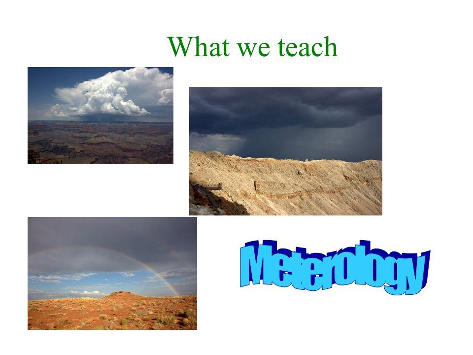 What we teach Meterology