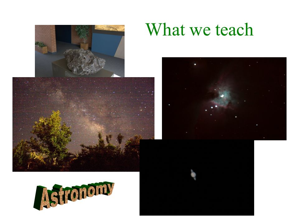 What we teach Astronomy
