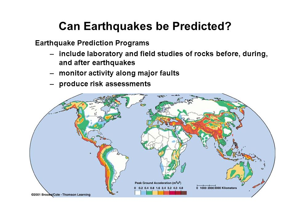 Can Earthquakes be Predicted