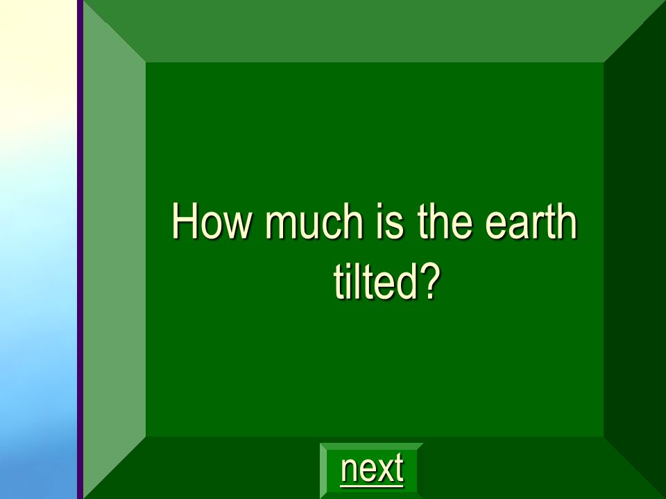 How much is the earth tilted