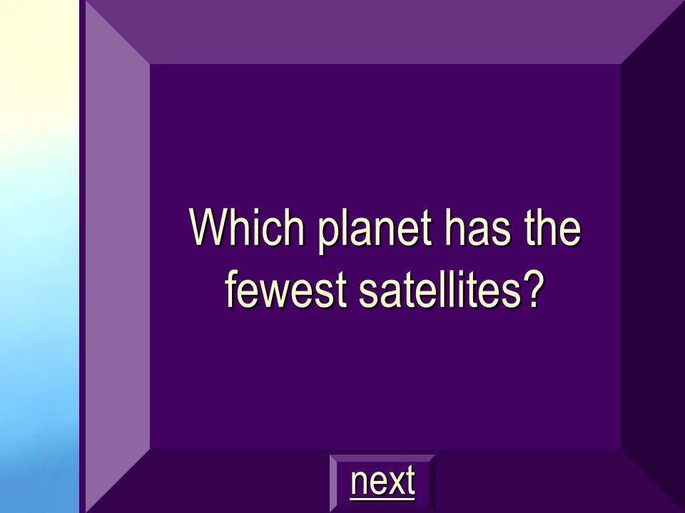 Which planet has the fewest satellites