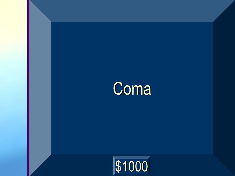 Coma $1000