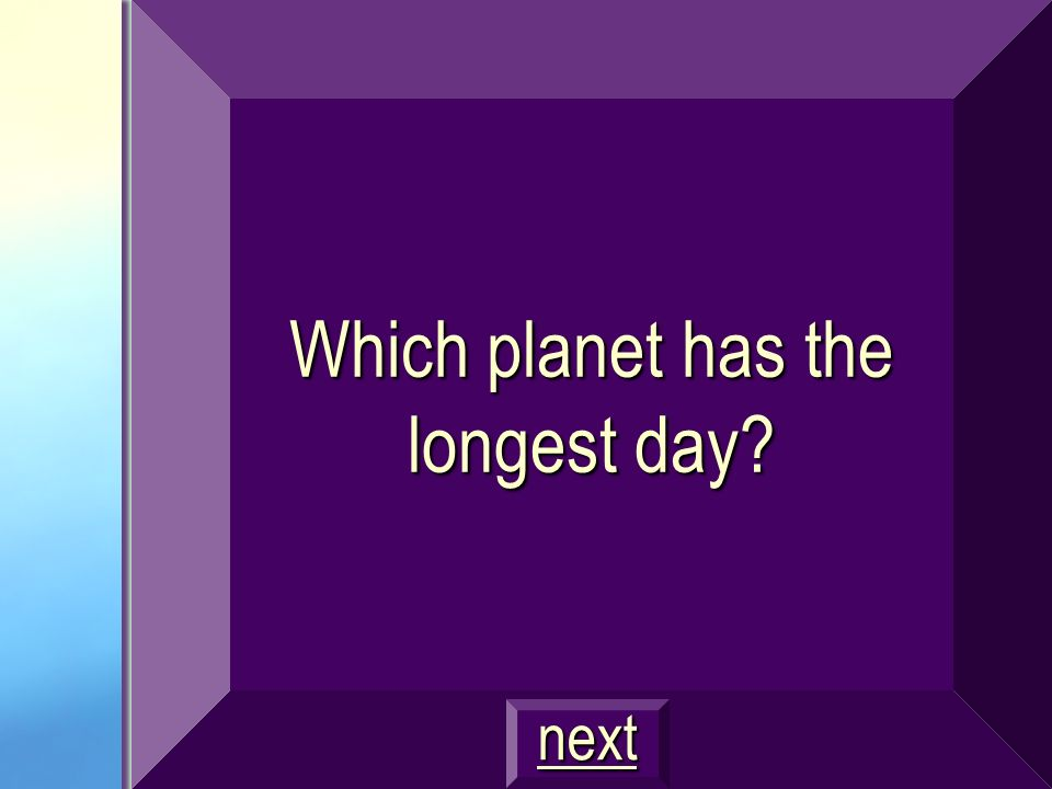Which planet has the longest day