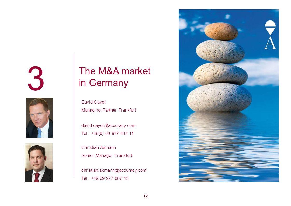 3 The M&A market in Germany David Cayet Managing Partner Frankfurt