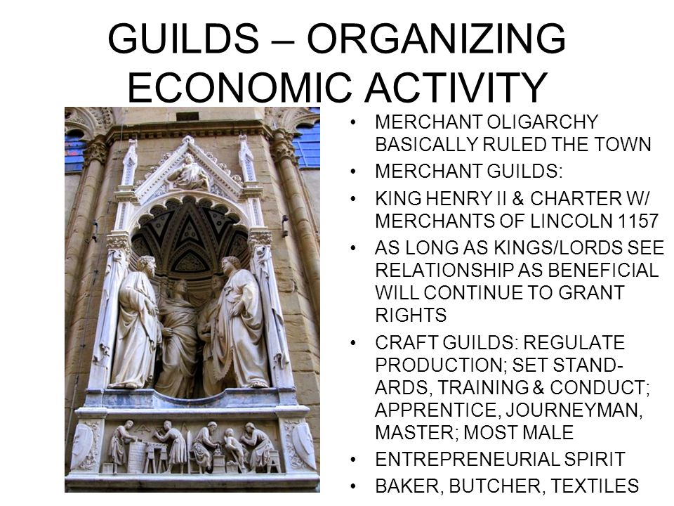 GUILDS – ORGANIZING ECONOMIC ACTIVITY