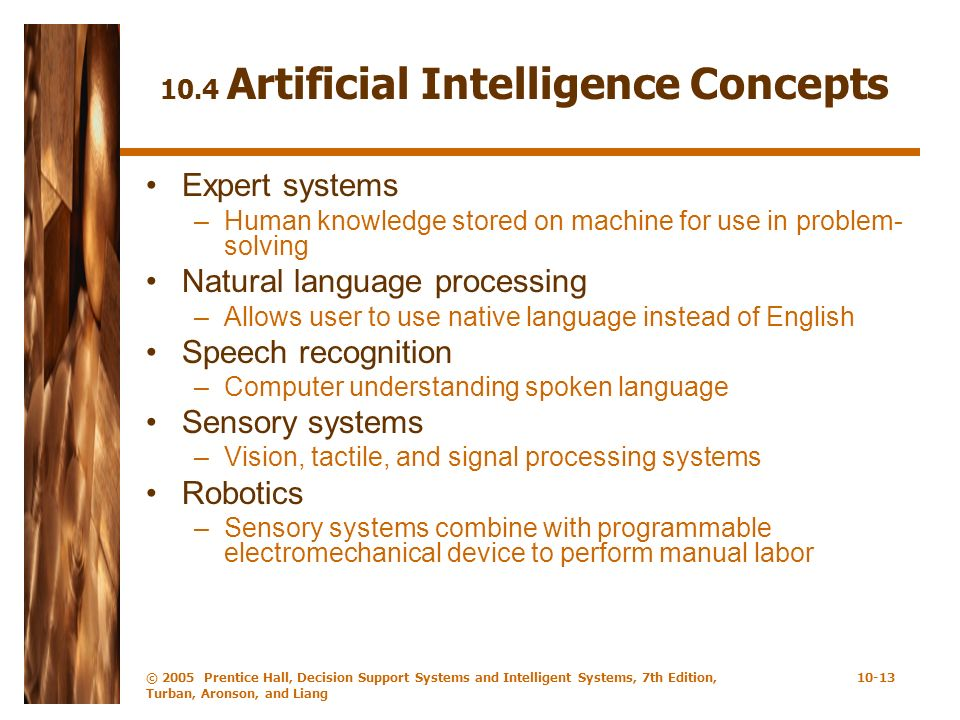 10.4 Artificial Intelligence Concepts