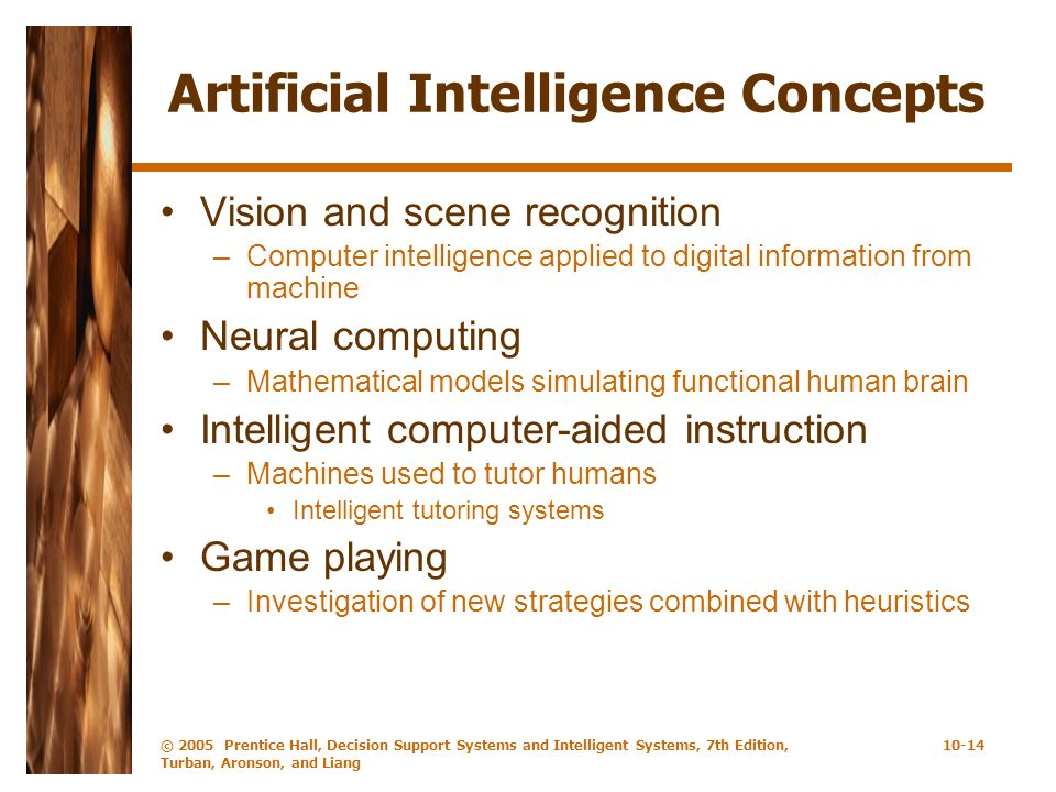 Artificial Intelligence Concepts