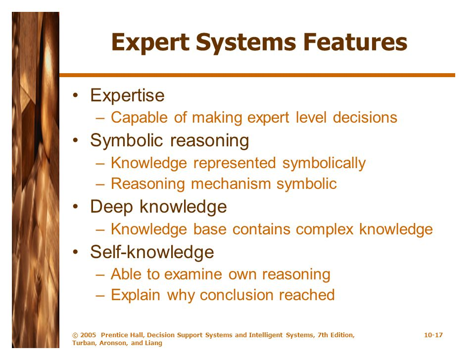 Expert Systems Features