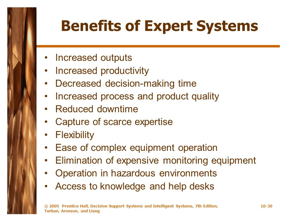 Benefits of Expert Systems