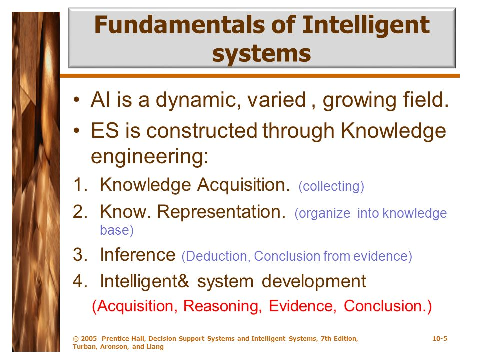 Fundamentals of Intelligent systems