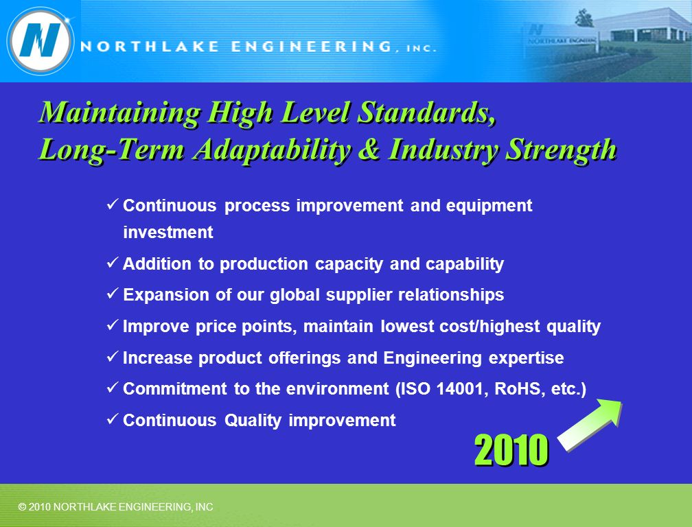Maintaining High Level Standards, Long-Term Adaptability & Industry Strength