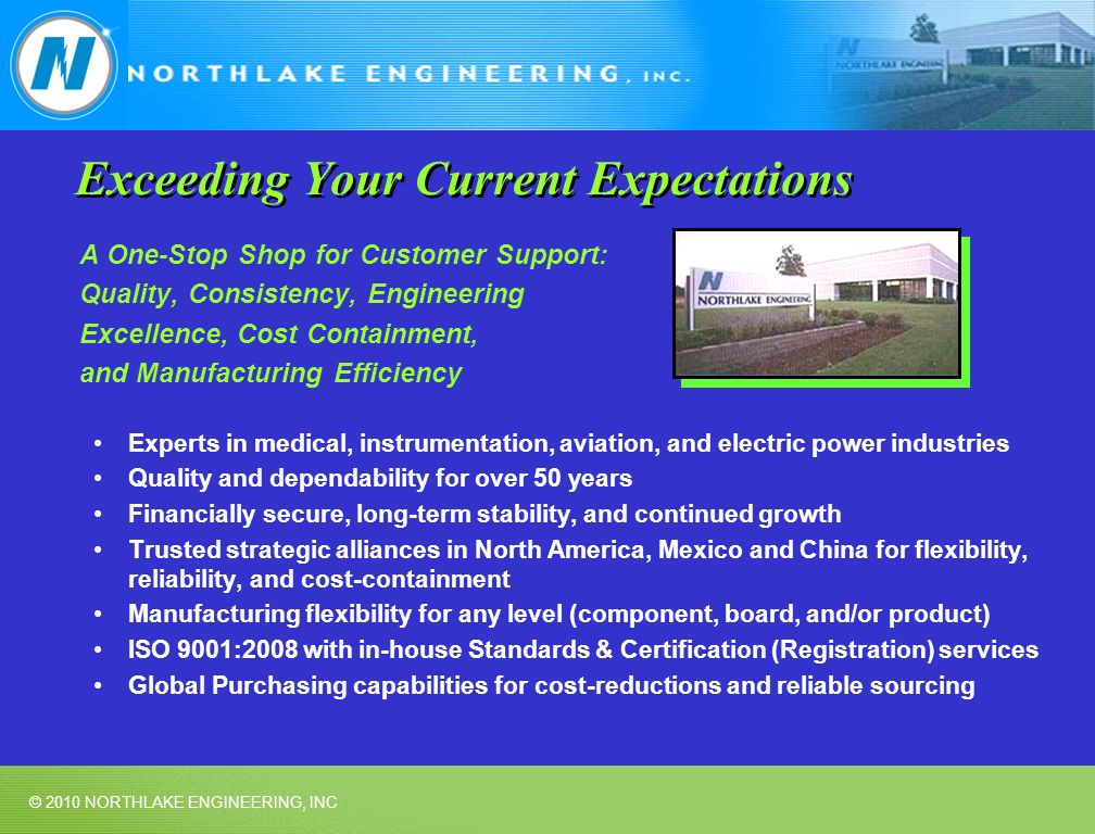 Exceeding Your Current Expectations