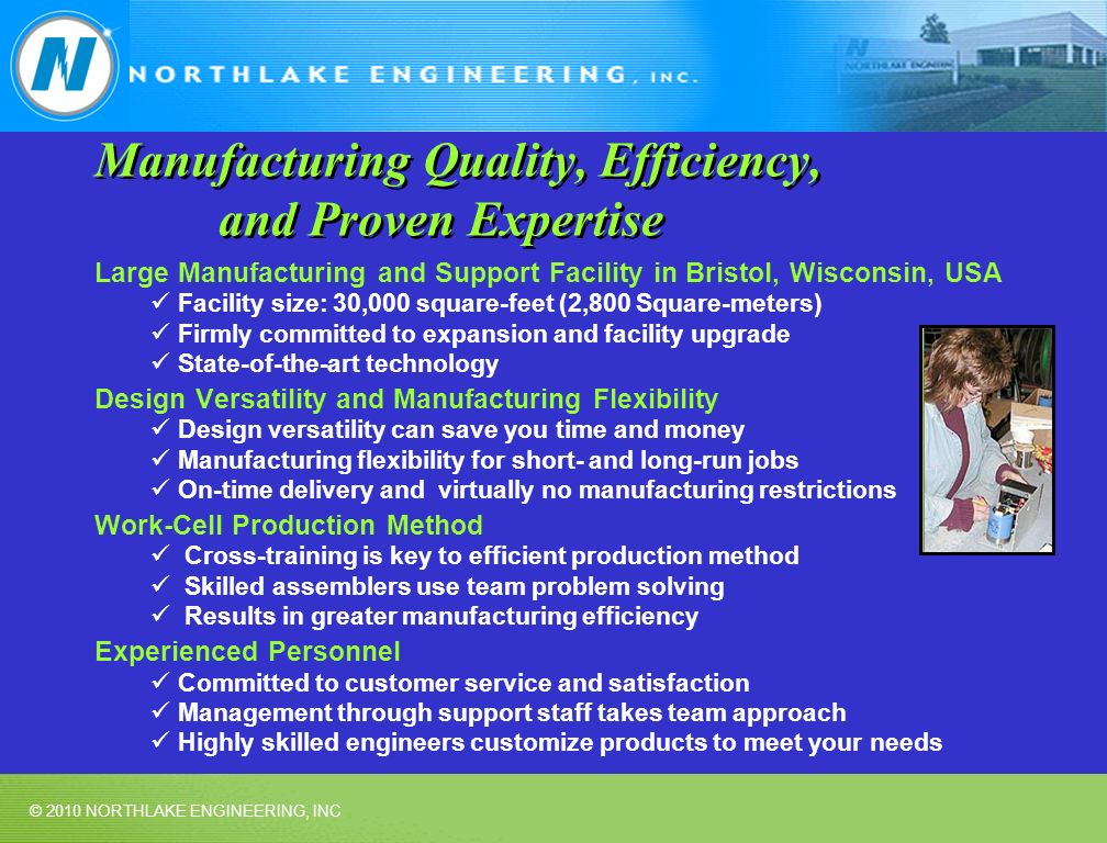Manufacturing Quality, Efficiency, and Proven Expertise