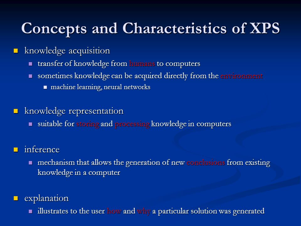 Concepts and Characteristics of XPS