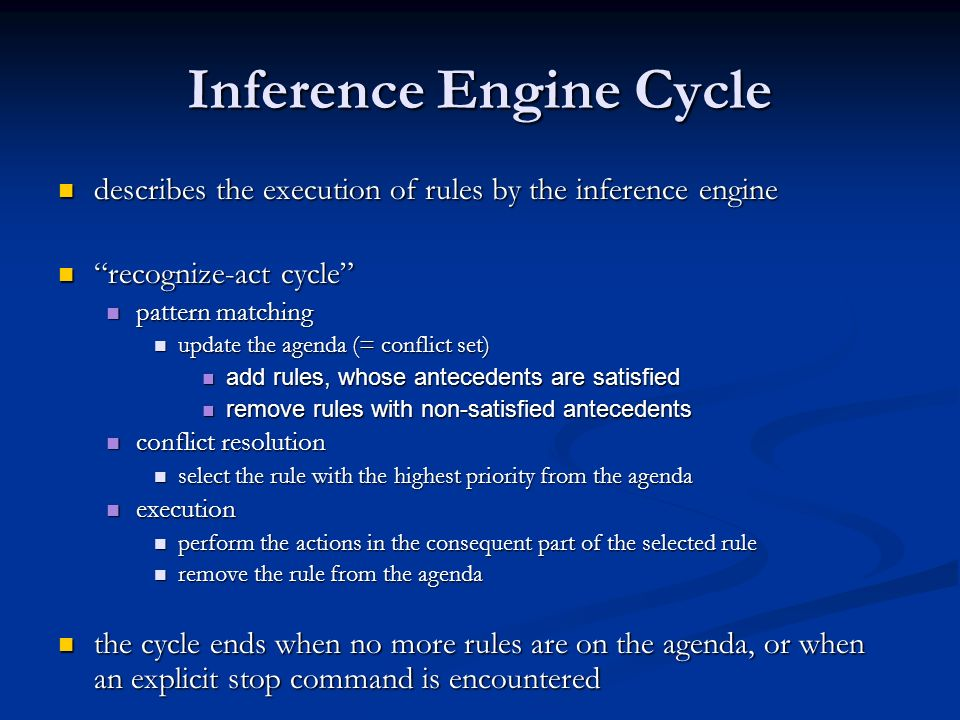 Inference Engine Cycle