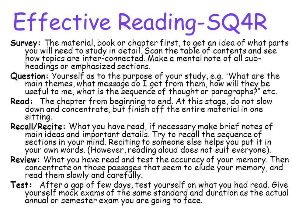 Effective Reading-SQ4R