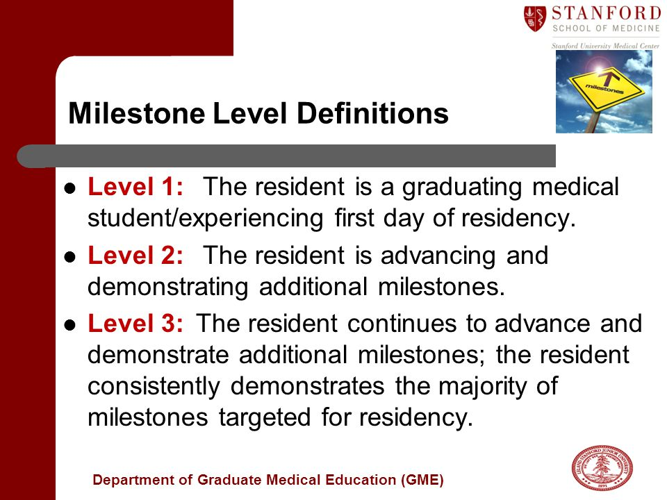 Milestone Level Definitions