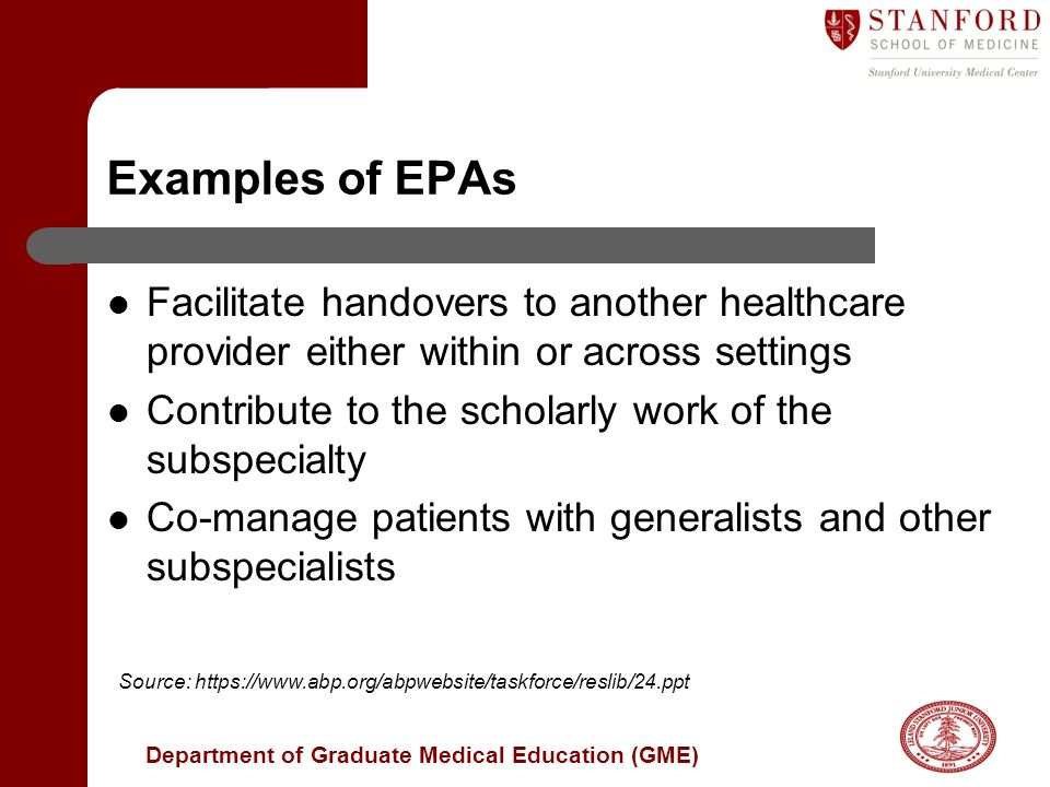 Examples of EPAs Facilitate handovers to another healthcare provider either within or across settings.