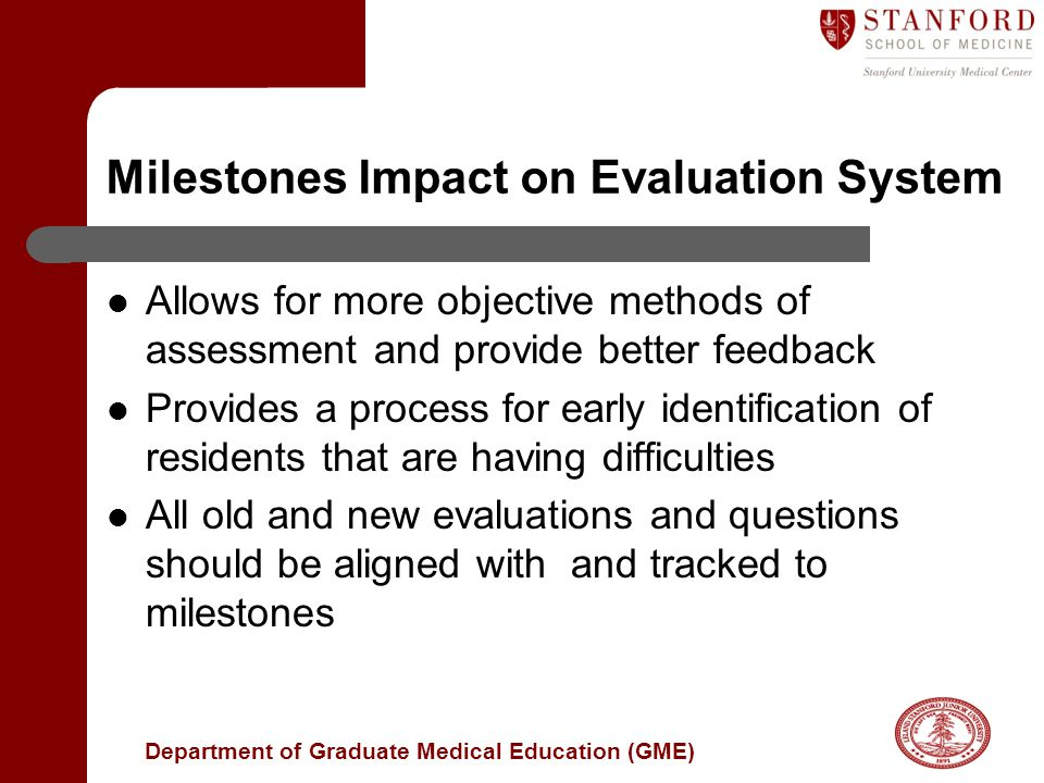 Milestones Impact on Evaluation System