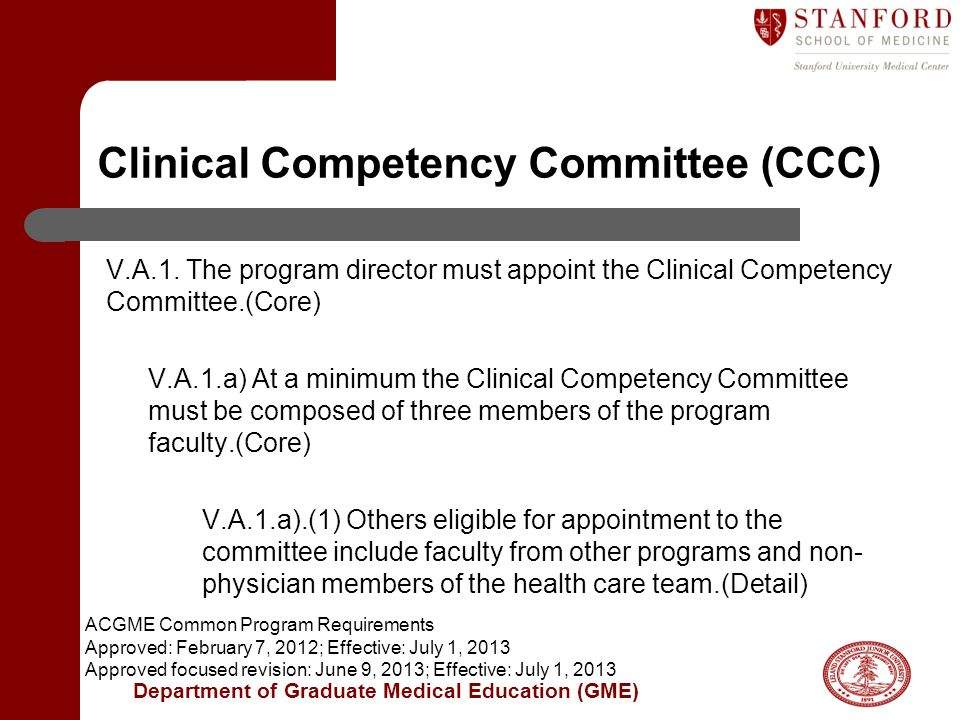 Clinical Competency Committee (CCC)