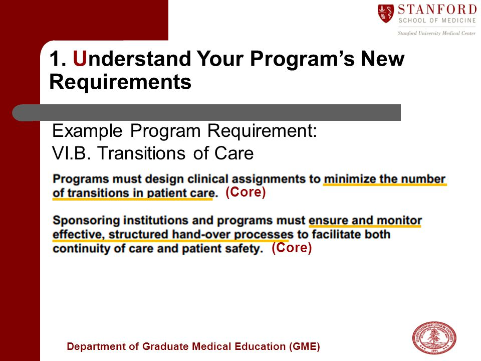 1. Understand Your Program's New Requirements