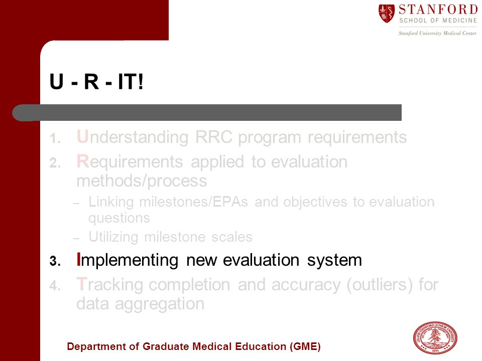 U - R - IT! Understanding RRC program requirements