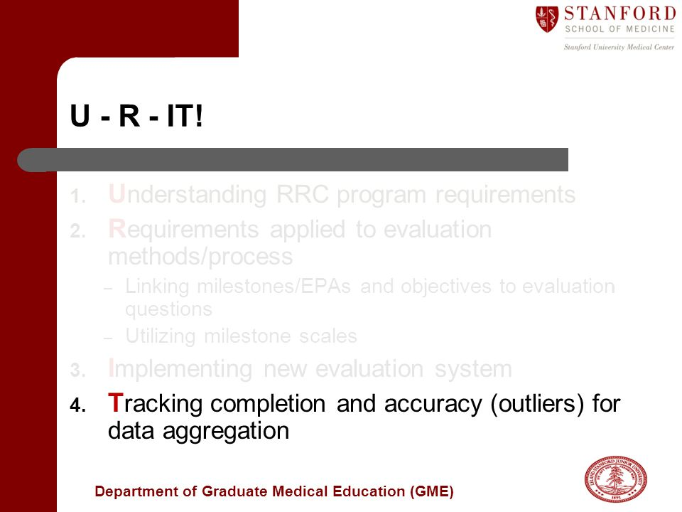 U - R - IT! Understanding RRC program requirements