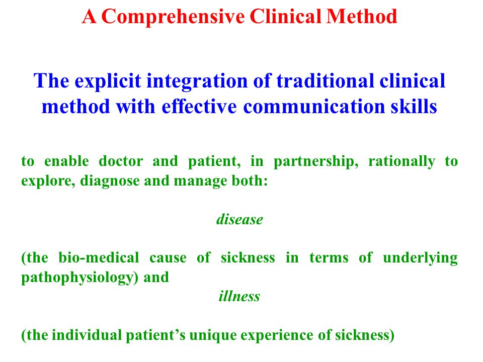 A Comprehensive Clinical Method