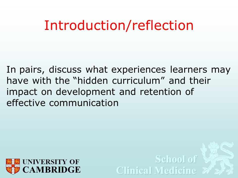 Introduction/reflection