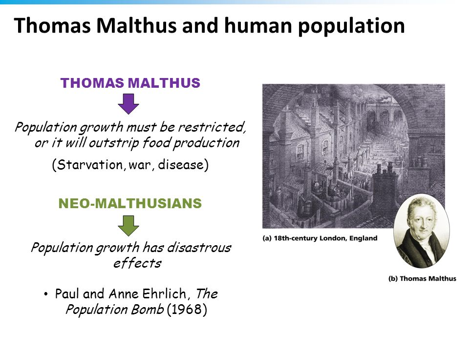 Thomas Malthus and human population