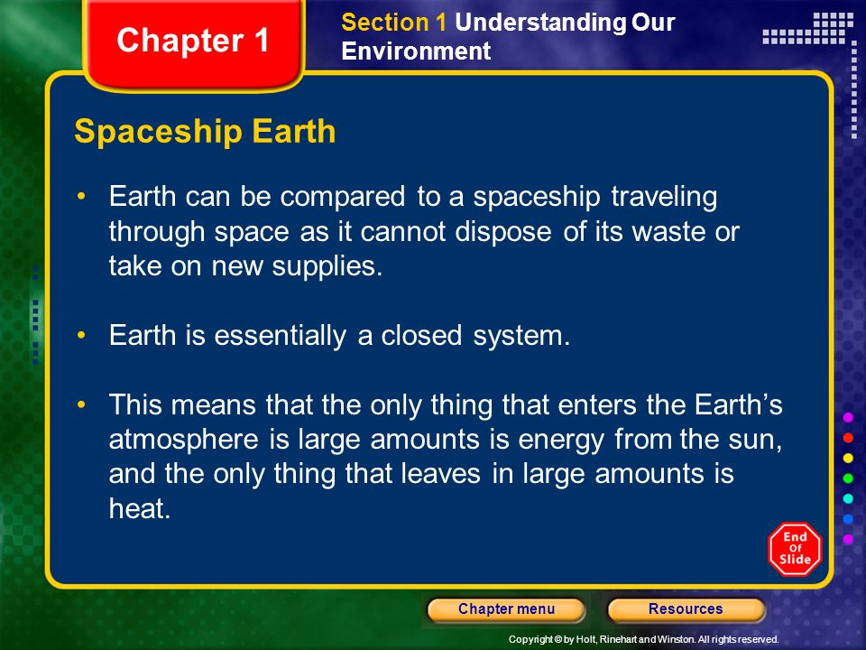 Chapter 1 Spaceship Earth