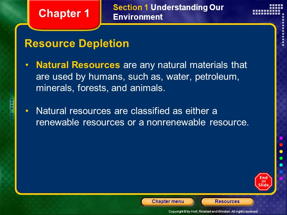 Chapter 1 Resource Depletion
