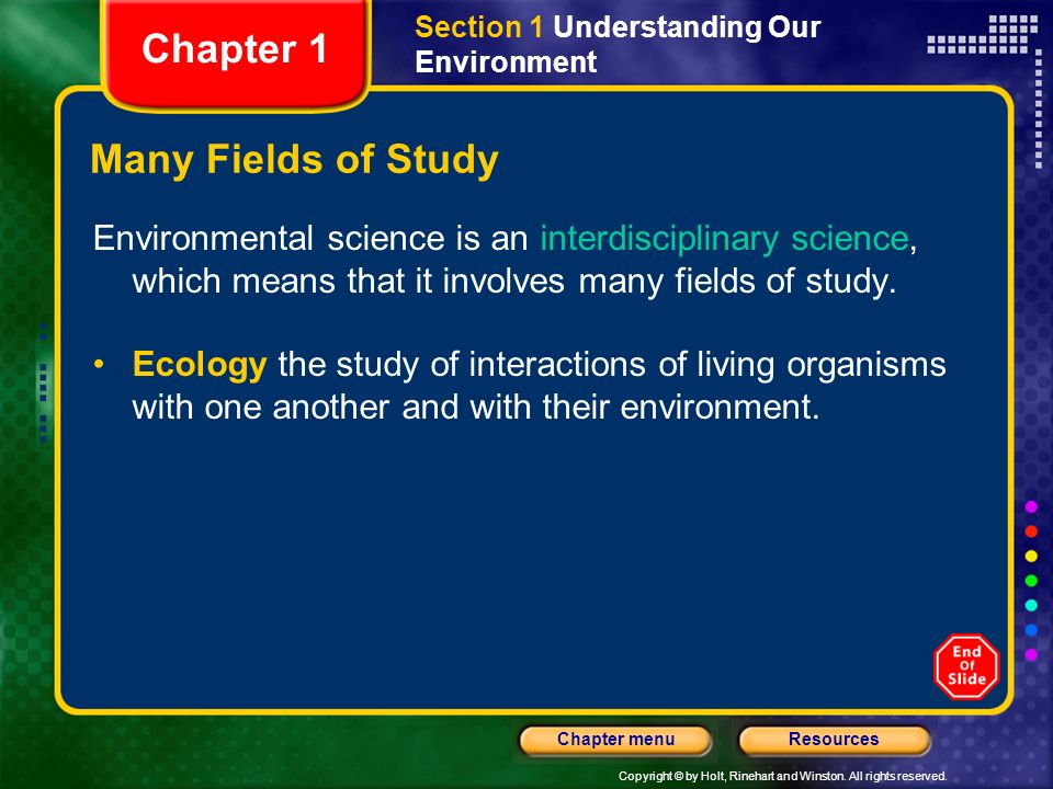 Chapter 1 Many Fields of Study