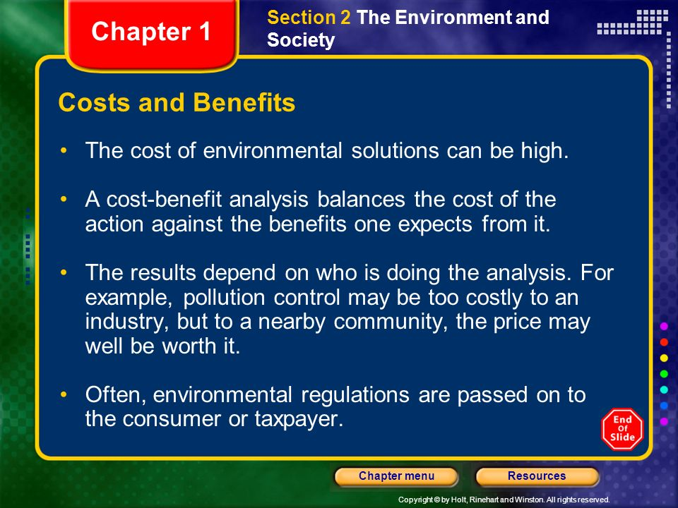 Chapter 1 Costs and Benefits