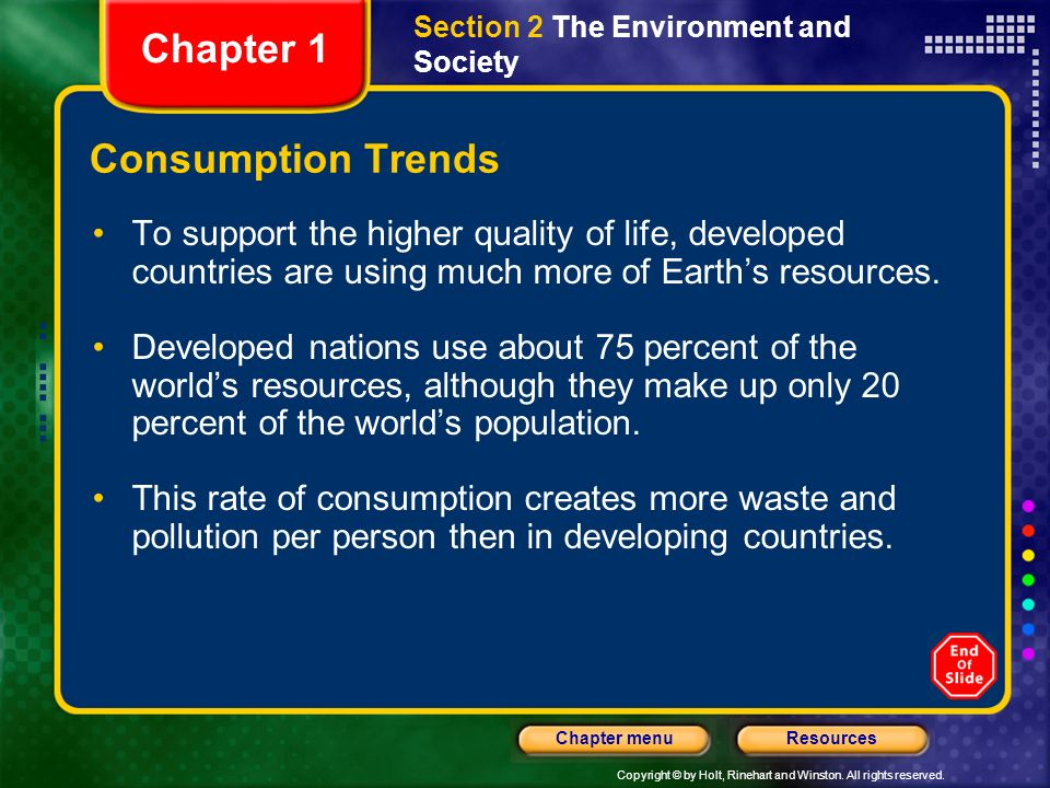 Chapter 1 Consumption Trends