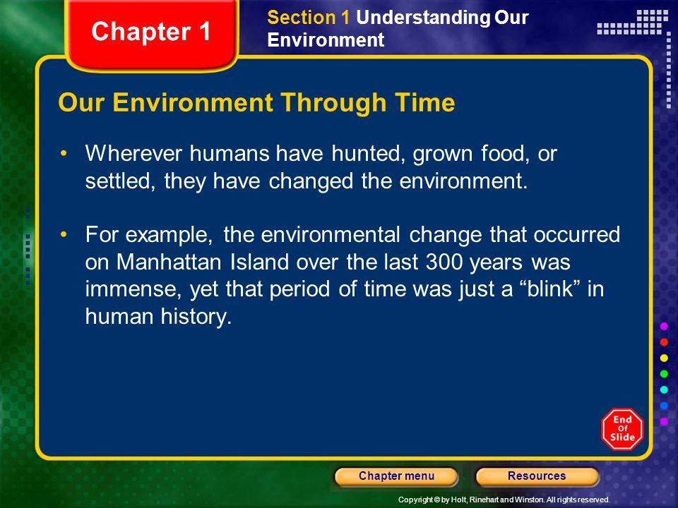Our Environment Through Time