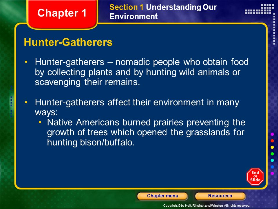 Chapter 1 Hunter-Gatherers