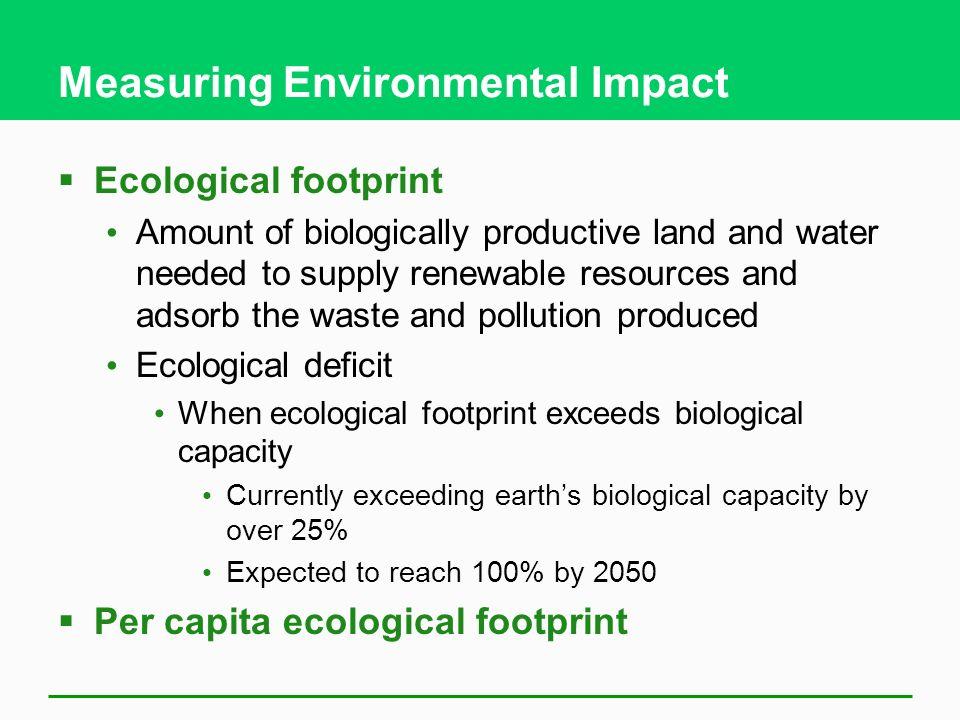 Measuring Environmental Impact