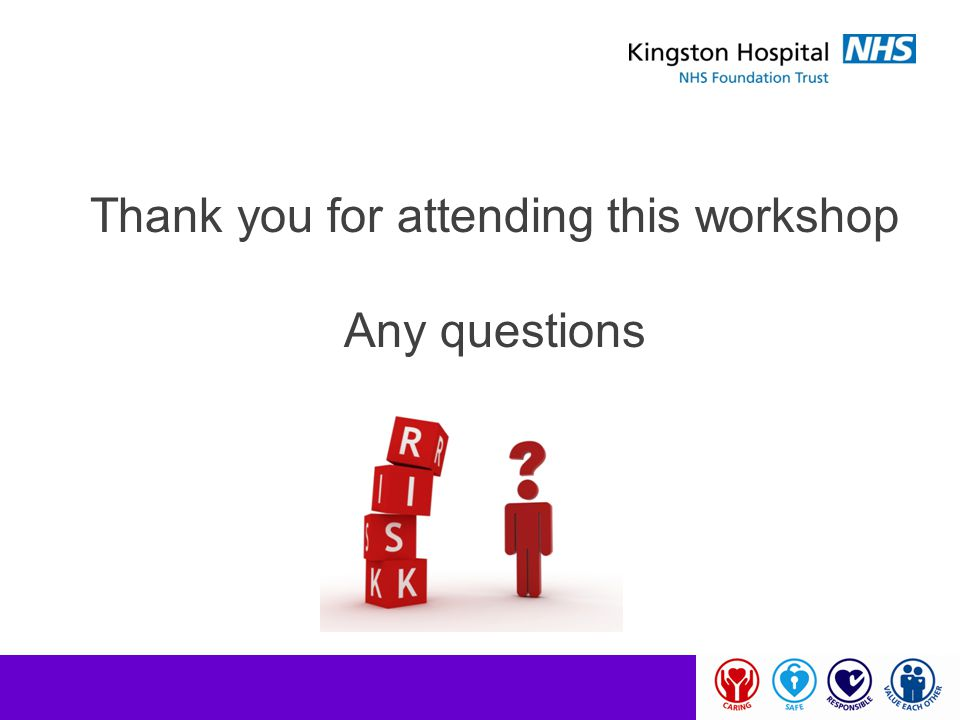 Thank you for attending this workshop Any questions