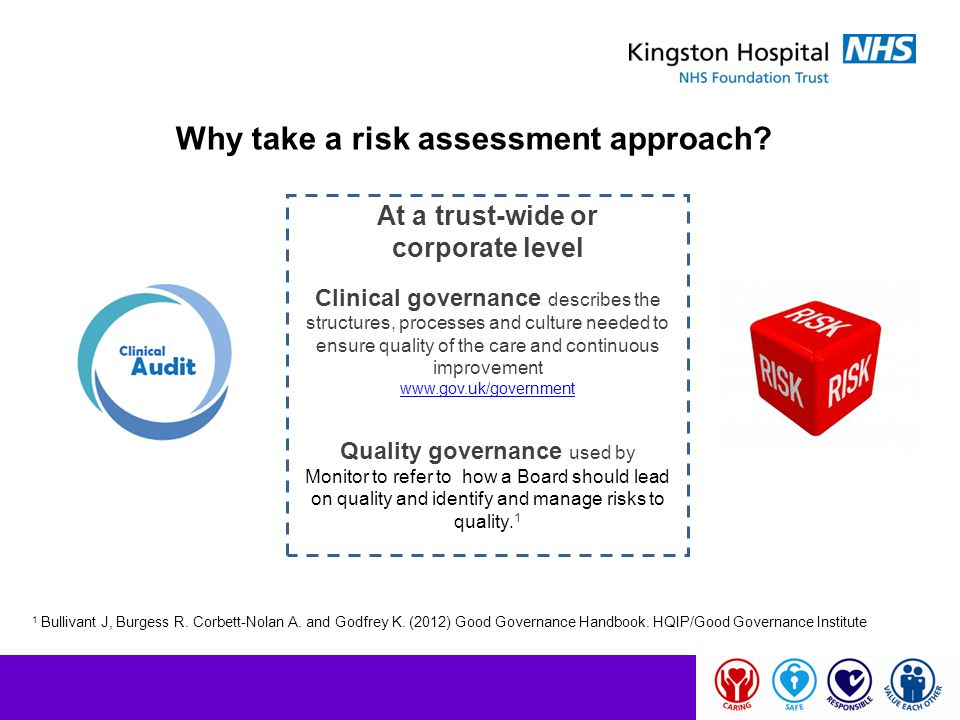 Why take a risk assessment approach