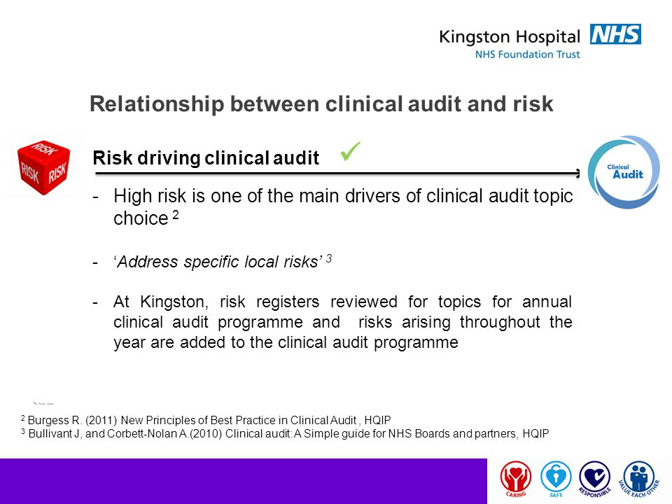 Relationship between clinical audit and risk