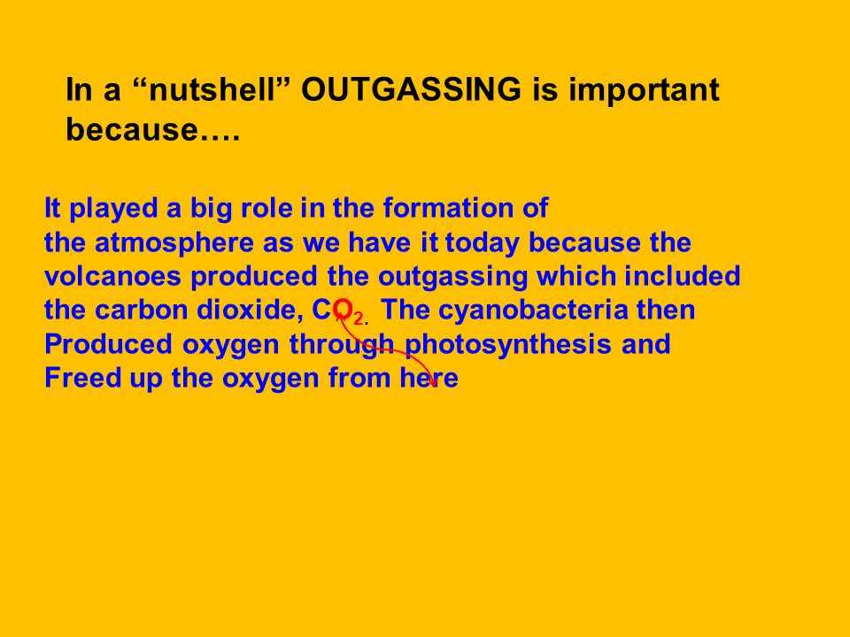 In a nutshell OUTGASSING is important because….