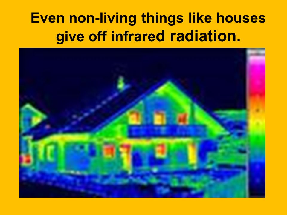 Even non-living things like houses give off infrared radiation.